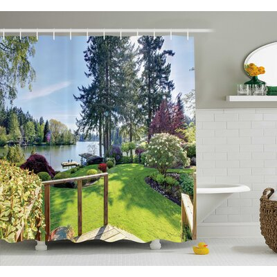 Clovis Sunny Day Decor Shower Curtain Size: 69 H x 70 W
