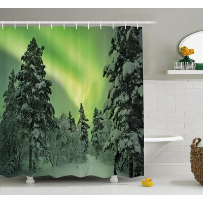 Dusk Sky Twilight Shower Curtain Size: 69 H x 84 W