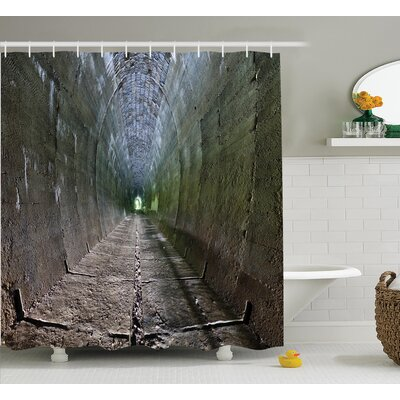 Tunnel with Sunlight Decor Shower Curtain Size: 69 H x 70 W