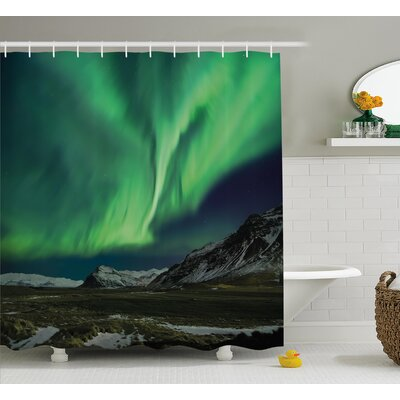 Aurora Polaris Shower Curtain Size: 69 H x 75 W