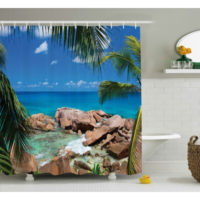 Clovis Rocky Coast Decor Shower Curtain Size: 69 H x 84 W