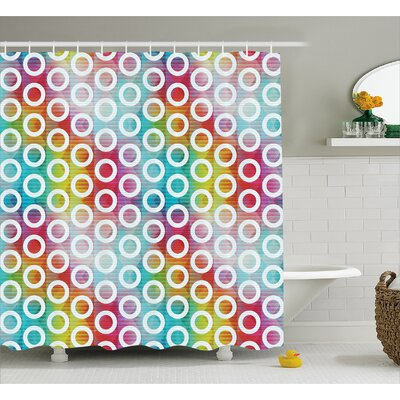 Bubble Fractal Decor Shower Curtain Size: 69 H x 84 W