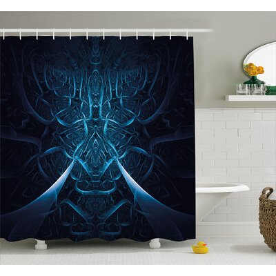 Spooky Hollow Shower Curtain Size: 69 H x 75 W