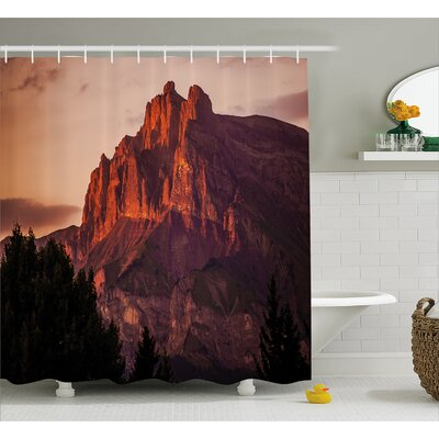 Limestone Mountains Decor Shower Curtain Size: 69 H x 84 W