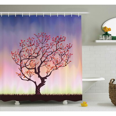 Sunset Rise Shower Curtain Size: 69 H x 84 W