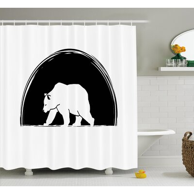 Bear Walking Side Shower Curtain Size: 69 H x 70 W