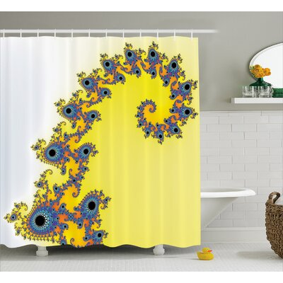 Trippy Seahorse Shower Curtain Size: 69 H x 75 W