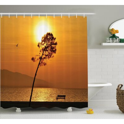 Clovis Sea Sun Decor Shower Curtain Size: 69 H x 70 W