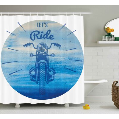 Hand Drawn Shower Curtain Size: 69 H x 75 W