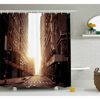 Coletta Street Shower Curtain Size: 69 H x 84 W