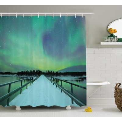 Bridge Shower Curtain Size: 69 H x 70 W