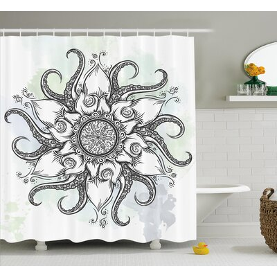 Nautical Mandala Decor Shower Curtain Size: 69 H x 70 W