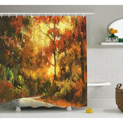 Pathway Decor Shower Curtain Size: 69 H x 70 W