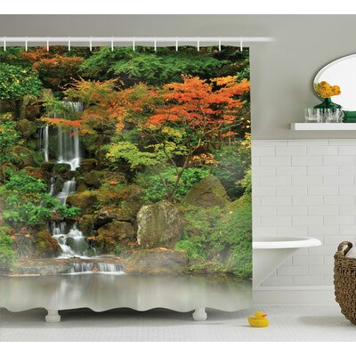 Wild Small Decor Shower Curtain Size: 69