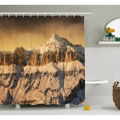 Mountain Peaks Decor Shower Curtain Size: 69 H x 75 W