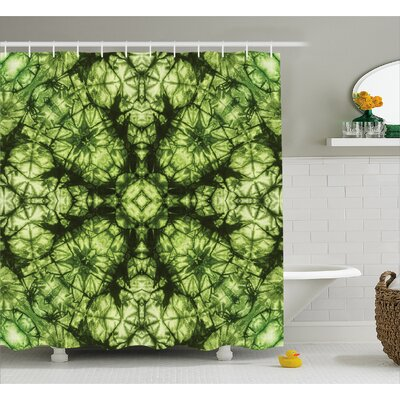 Water-resistant Decor Fabric Shower Curtain Size: 69 H x 70 W