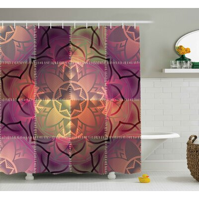 Ombre Paisley Decor Shower Curtain Size: 69 H x 84 W