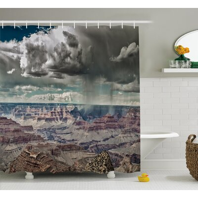 Cumulus Clouds  Decor Shower Curtain Size: 69 H x 75 W