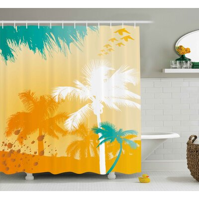 Palms Shower Curtain Size: 69 H x 84 W