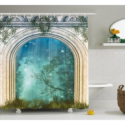 Curved Door Decor Shower Curtain Size: 69