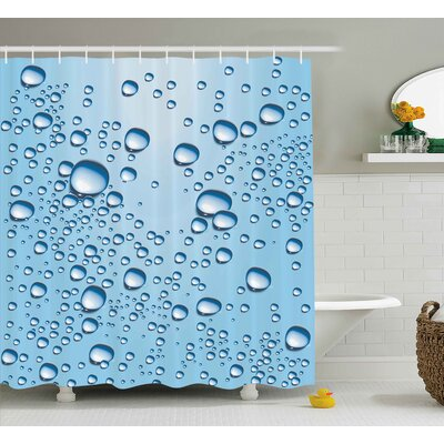 Water Marks Modern Decor Shower Curtain Size: 69 H x 84 W