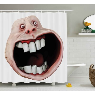 Scary Monster Decor Shower Curtain Size: 69 H x 75 W