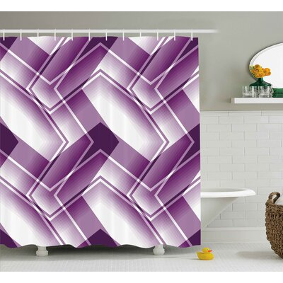 Curved Lined Shower Curtain Size: 69 H x 70 W