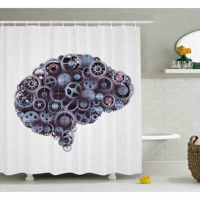 Industrial Decor Shower Curtain Size: 69 H x 70 W
