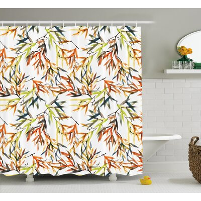 Bamboos Decor Shower Curtain Size: 69 H x 70 W