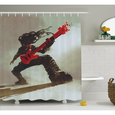 Rocker Decor Shower Curtain Size: 69 H x 75 W