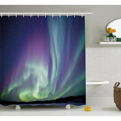 Starry Sky Shower Curtain Size: 69 H x 70 W