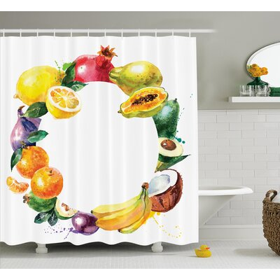 Nature Food Shower Curtain Size: 69 H x 70 W