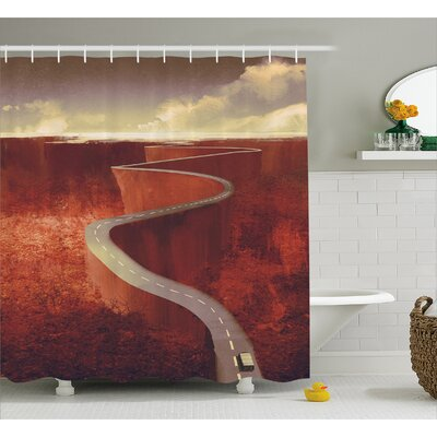 Scenic Road Decor Shower Curtain Size: 69 H x 84 W