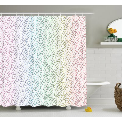 Downpour Decor Shower Curtain Size: 69 H x 75 W