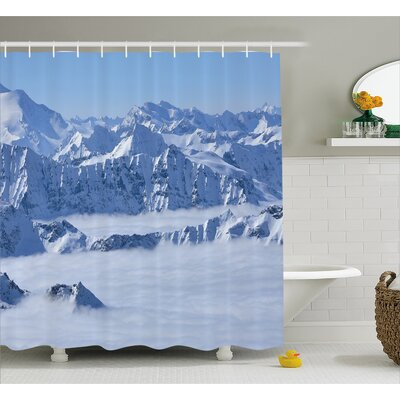 Alps Summit Decor Shower Curtain Size: 69 H x 70 W