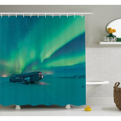 Aurora Borealis Shower Curtain Size: 69 H x 70 W