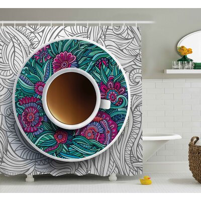 Kitchen Decor Shower Curtain Size: 69 H x 84 W