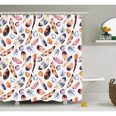 Hawk Peacock Decor Shower Curtain Size: 69 H x 75 W