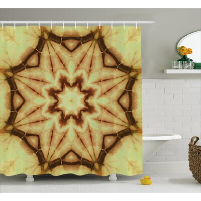 Ethnic Thai Mandala Decor Shower Curtain Size: 69 H x 75 W