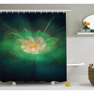 Buds Aurora Shower Curtain Size: 69 H x 84 W