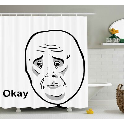 Okay Decor Shower Curtain Size: 69 H x 84 W