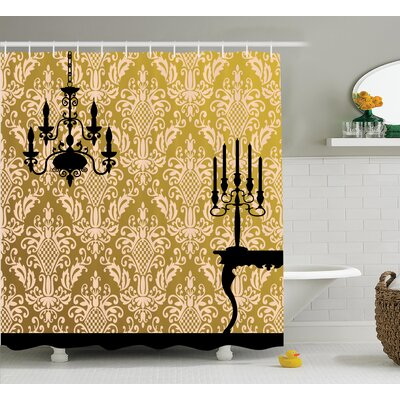 Chandelier Shower Curtain Size: 69 H x 84 W
