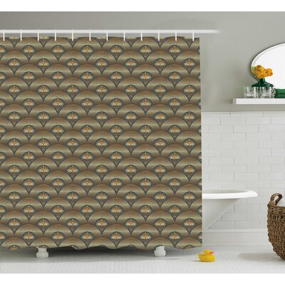Concentric Royal Mosaic Shower Curtain Size: 69 H x 70 W