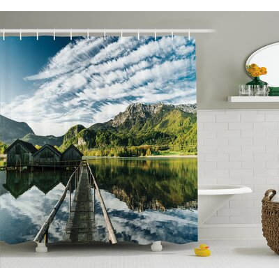 Clouds On Wild Valley Decor Shower Curtain Size: 69 H x 75 W