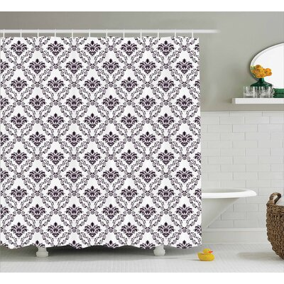 Botanical Leaves Shower Curtain Size: 69 H x 75 W
