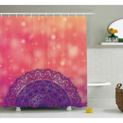 Ethnic Henna Shower Curtain Size: 69 H x 70 W