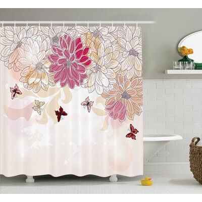 Baby Petals Spring Decor Shower Curtain Size: 69