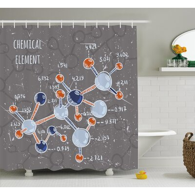 Science Formula Shower Curtain Size: 69 H x 84 W