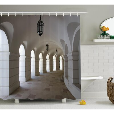 Buildings with Arche Decor Shower Curtain Size: 69 H x 70 W