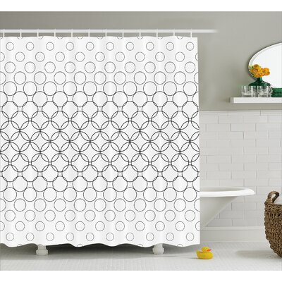 Circle Overlap  Decor Shower Curtain Size: 69 H x 84 W